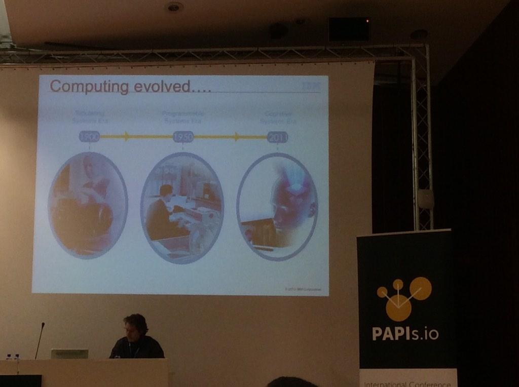 2nd day in #papis2014 @papisdotio . Now we speaking about the cognitive systems era, realy interesting and amazing :) http://t.co/RcuQcFVtqN