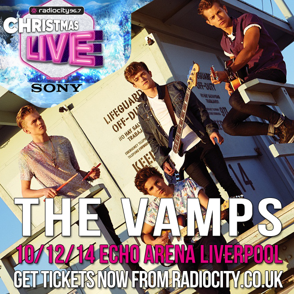 CHRISTMAS LIVE: @TheVampsband will be there! See the lads on Wed 10th Dec. Another headline act will be added soon! http://t.co/RtN9nDcDwS