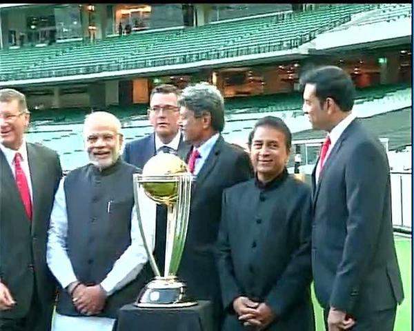 Narendra Modi Melbourne Cricket Ground Australia Sunil