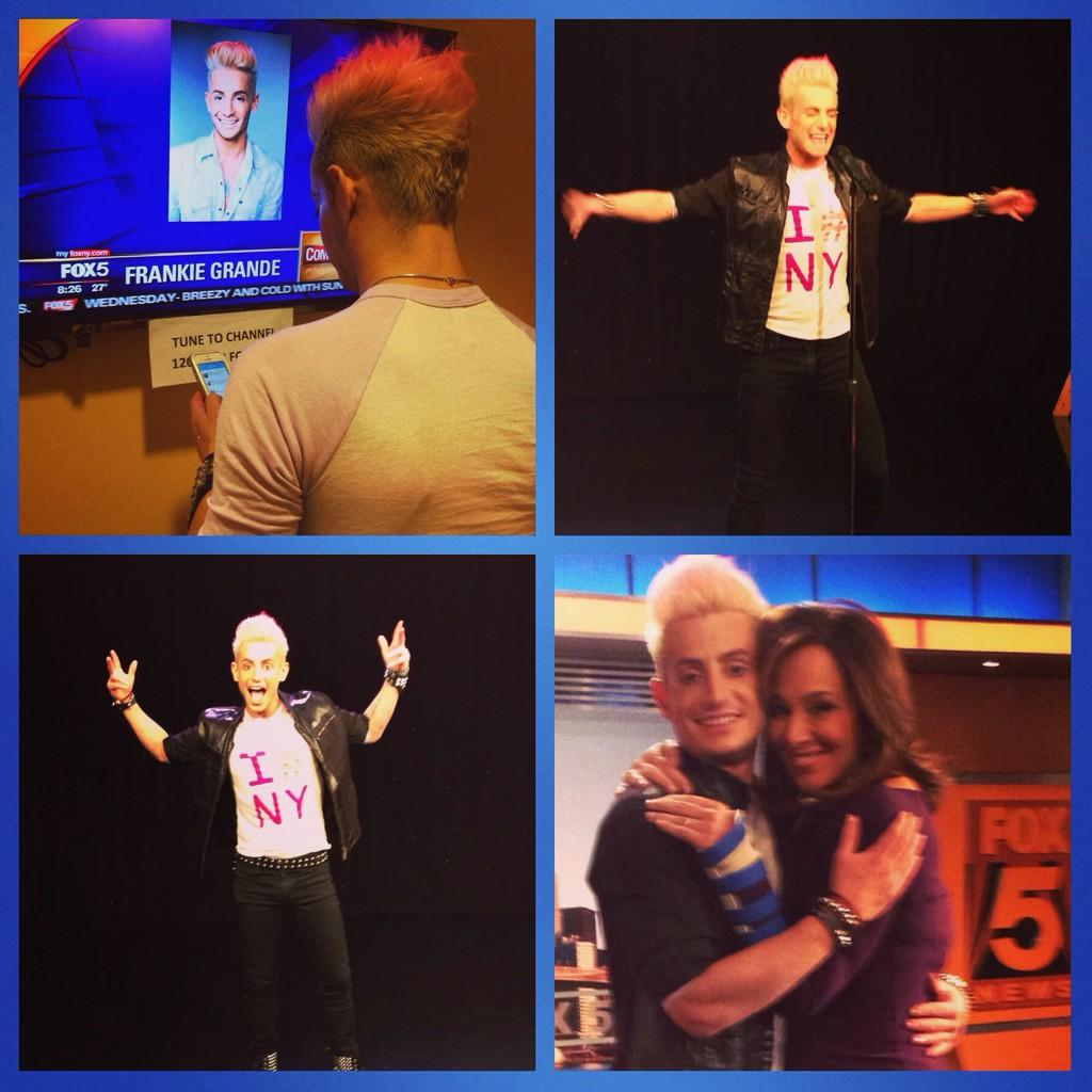 Sound ✔️ Complete! Tune in this morning to #GDNY to see @frankiejgrande sing & dance with  @RosannaScotto #Yes http://t.co/8EYgkRz7Pr