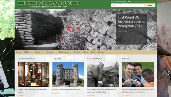 The Keep Military Museum website redesigned, rebuilt and relaunched in 2014 by Alacrify