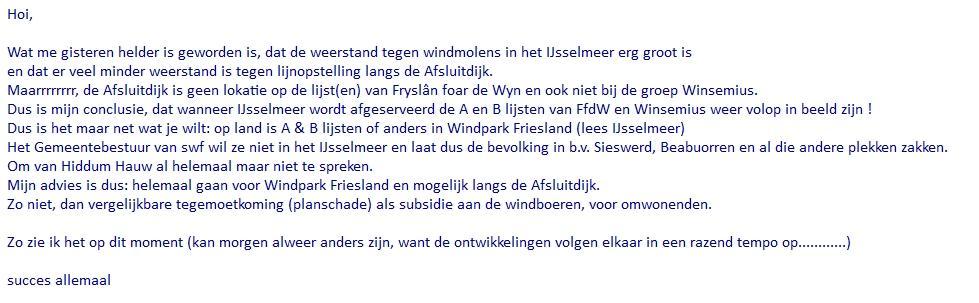 Fan Rixt Friezema: Verontrustende mail van Willem de Haan. Goed weten waar we voor kiezen  #IJsselmeer of land!! http://t.co/xwn8WqWcou