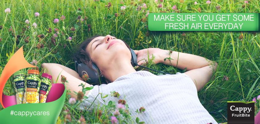 Fresh air strengthens your immune system. Make sure you enjoy the outdoors everyday! :) #cappy #cappycares