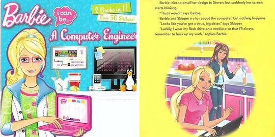 """Barbie's """"I Can Be A Computer Engineer"""" Book Is Embarrassingly Sexist http://t.co/I6LluFt9dS http://t.co/FK7dV6jPf5"""