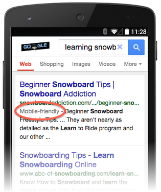 Google search will now highlight mobile-friendly pages in the mobile search results. http://t.co/gWiDLVrIEA http://t.co/VcT6c9egbt