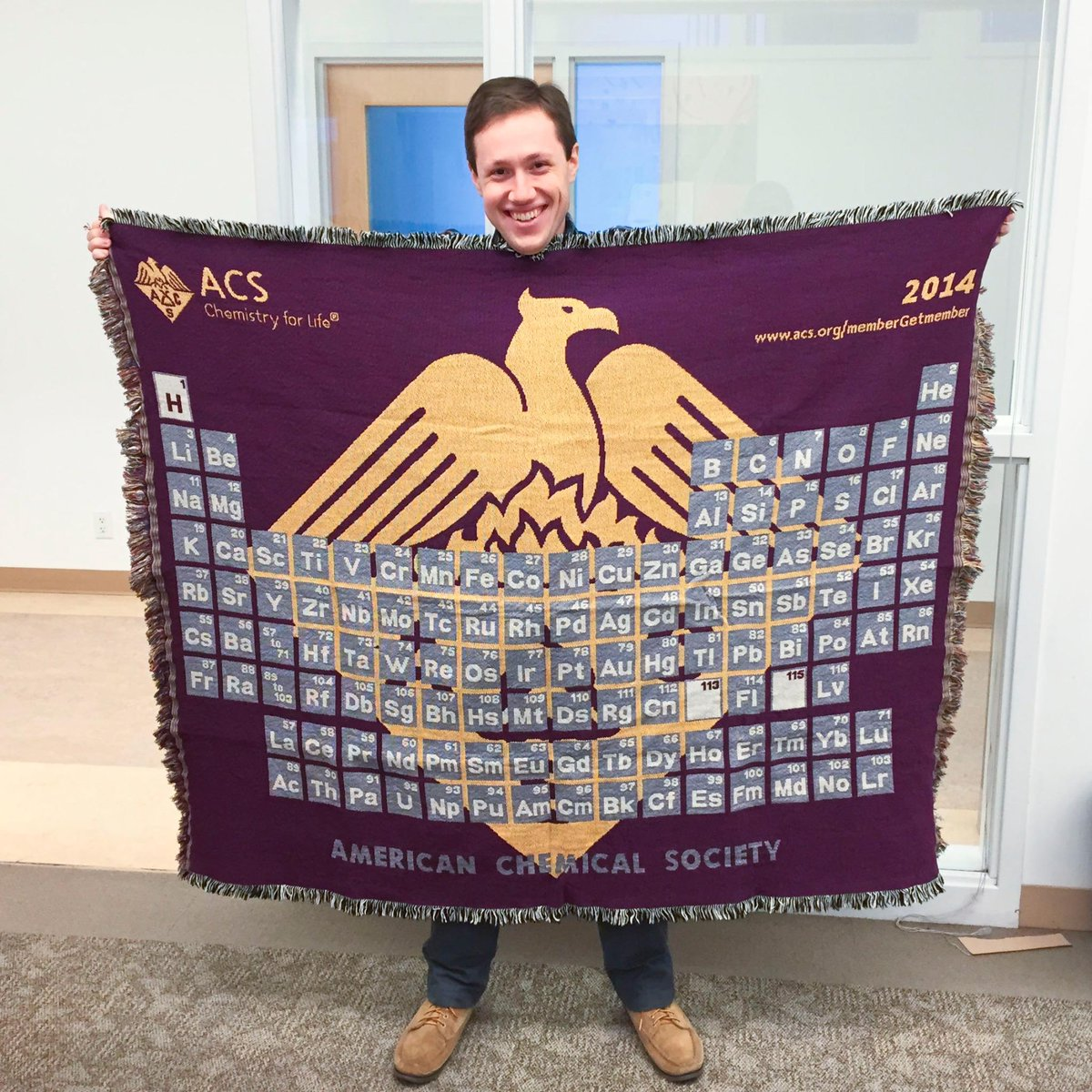 Adam hill on twitter this years rather regal acs periodic table adam hill on twitter this years rather regal acs periodic table of the elements blanket just arrived httptpmeee1geyn urtaz Choice Image