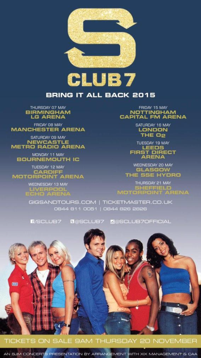 Tickets go on sale in just 2 days for the @SClub7 tour! Who's coming? Can't wait to see you all there! #sclub7tour http://t.co/gvgbQuTt5l
