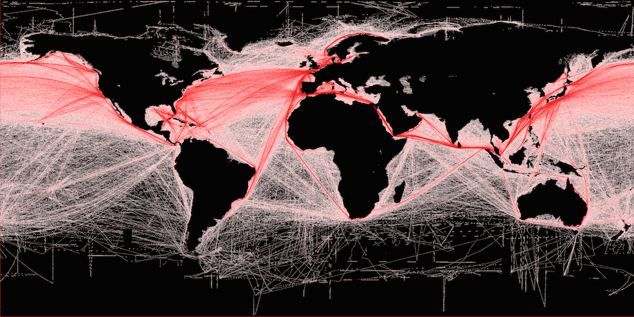 Maritime traffic on world's oceans up 300% in last 20 years http://t.co/50x1f3BeRV http://t.co/cCBqWPElmz (via @gCaptain) Satellite visual.