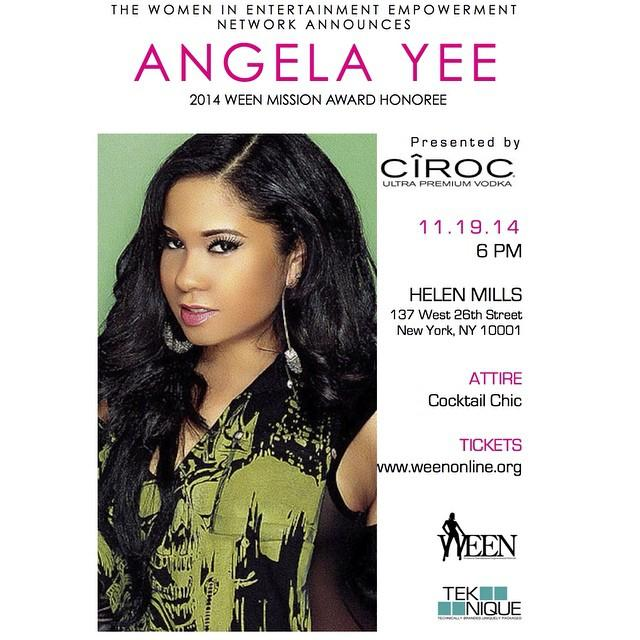 TOMORROW!! @WEENOnline is honoring @angelayee at the annual WEEN Awards! Visit http://t.co/iHDNl51O5z for ticket info http://t.co/rXYqzIFGi8