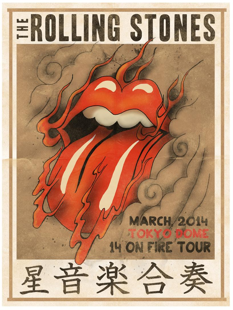 Allen page vintage rolling stones poster sexy brown