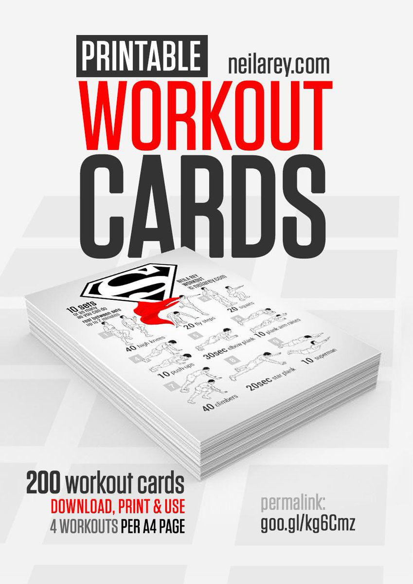 Resource image for printable workout cards