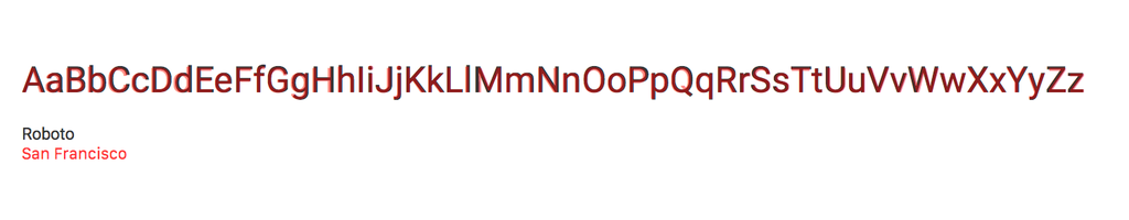 Crazy how close Apple's new font San Francisco is to Google's Roboto. /via @jm_denis http://t.co/QgGdgiEVBa
