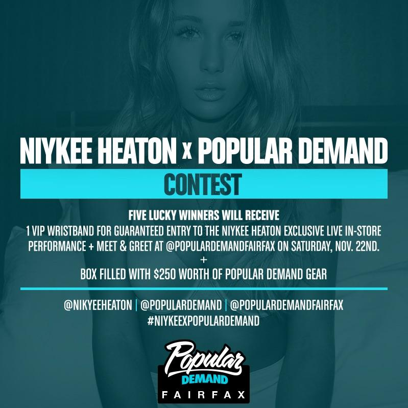 We are giving FIVE lucky winners a chance to win guaranteed entry to @NiykeeHeaton... http://t.co/roZNidW2jT http://t.co/lUkna67P9W