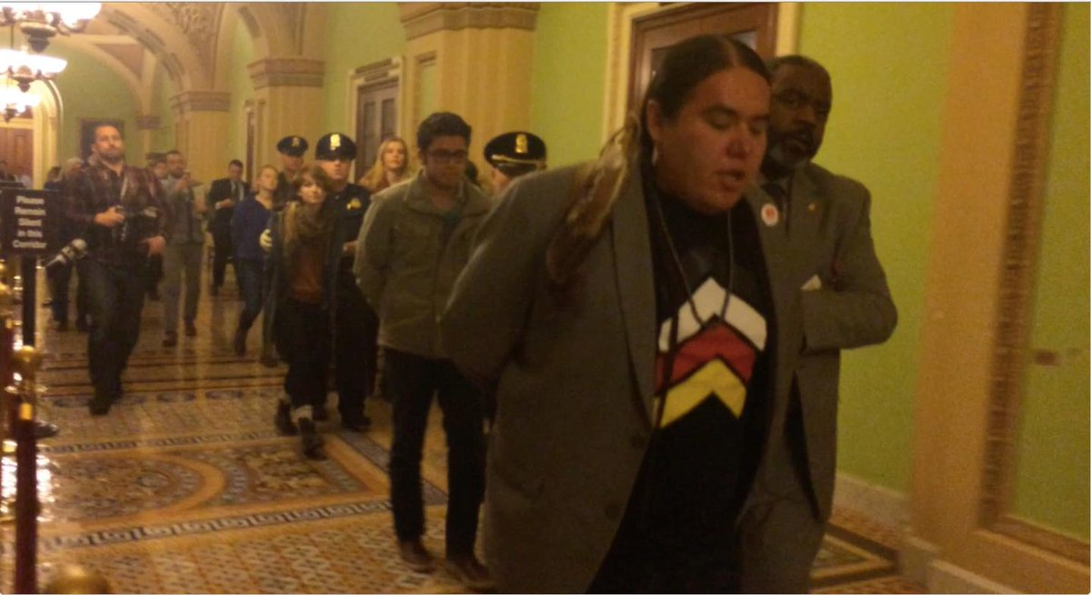 Video of Keystone protester after Senate vote
