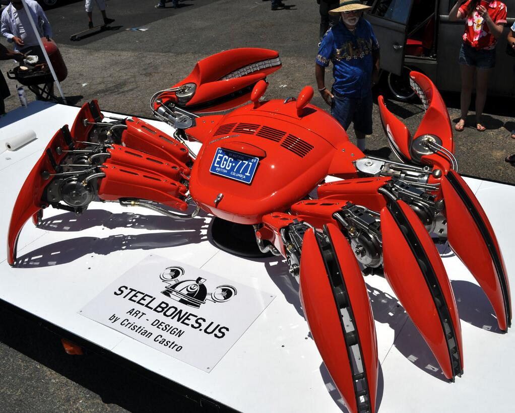 フォルクスワーゲンの部品で作った蟹カッコいいな。2013年の記事。carsusacanada.blogspot.jp/2013/06/the-mo… pic.twitter.com/8dfQRsrwF1