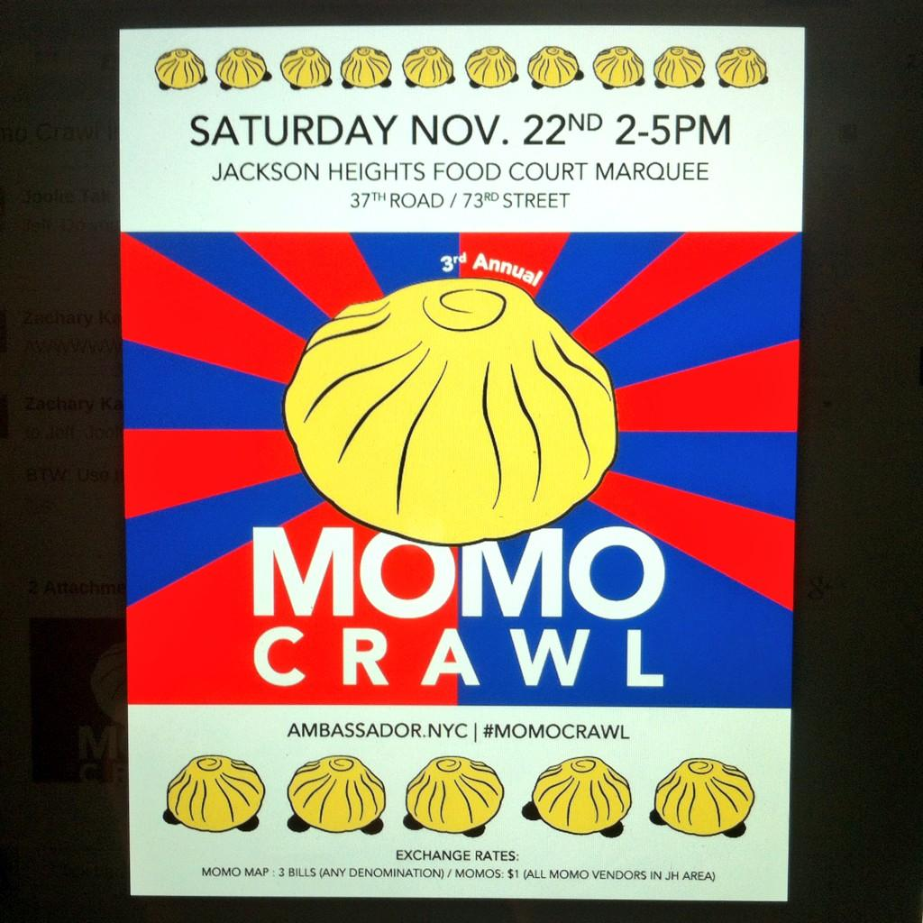 Saturday is @JeffOrlick's 3rd annual #momocrawl. Bring your appetite & 3 bills of any denomination for the momo map http://t.co/ty68it9m4B