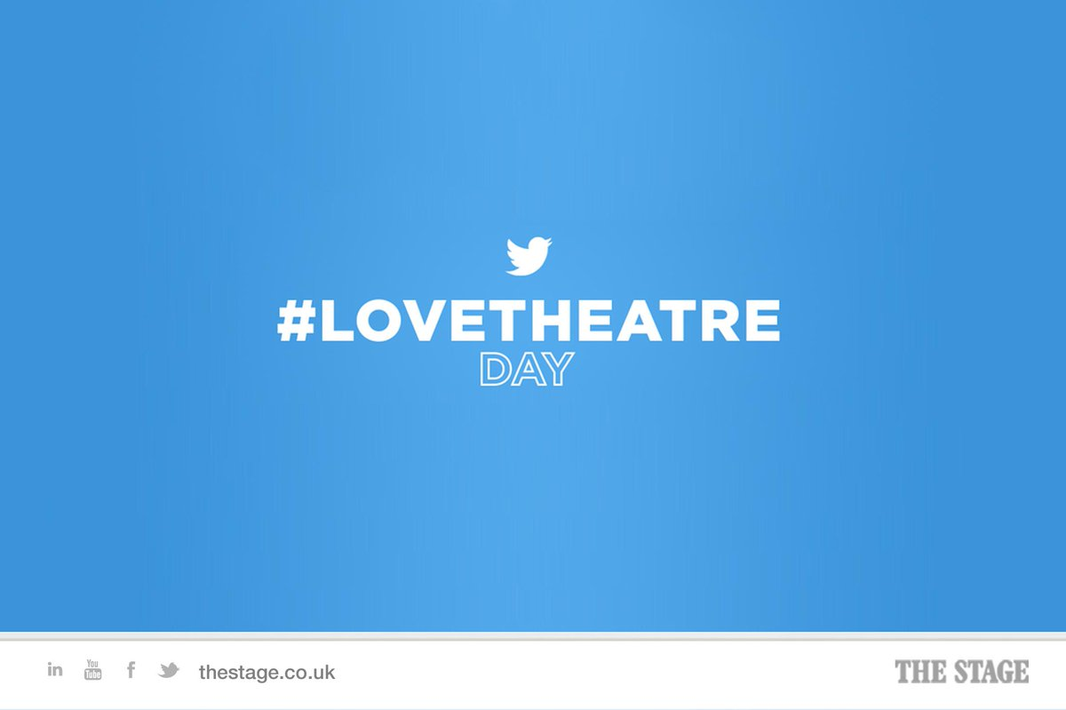 Good morning and happy #LoveTheatre Day. http://t.co/NuL3yD9HBH