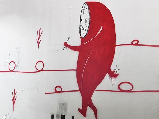 Artista espalha 'máscaras' em grafites pelas ruas de Cuiabá - http://t.co/GLGx43gMva http://t.co/kfXmDbzt9q