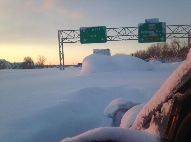 Roadway Snowed Over