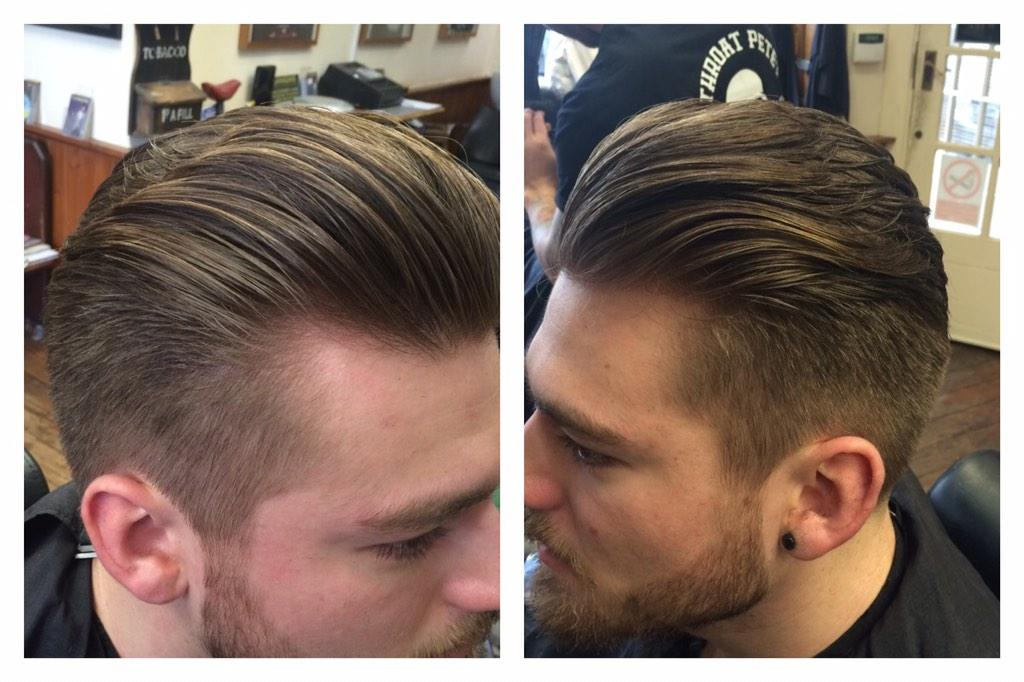 "Sides Back Of A Tumble ~ Flanagans barbers on twitter quot "" billinge c grade back"