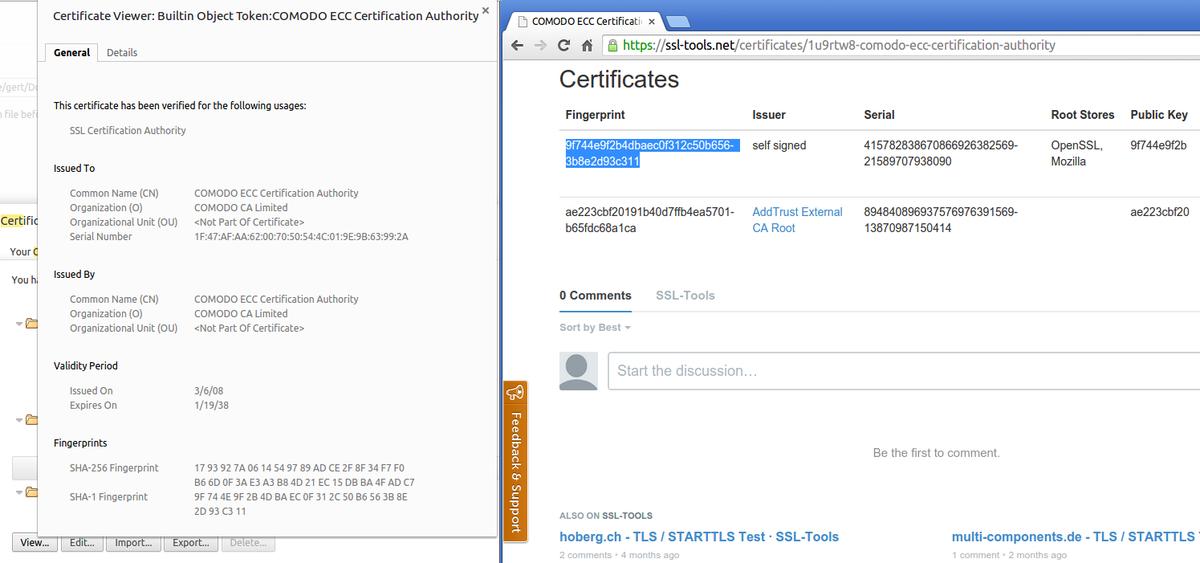 Gert Van Dijk On Twitter Indutny Comodo Ecc Certification