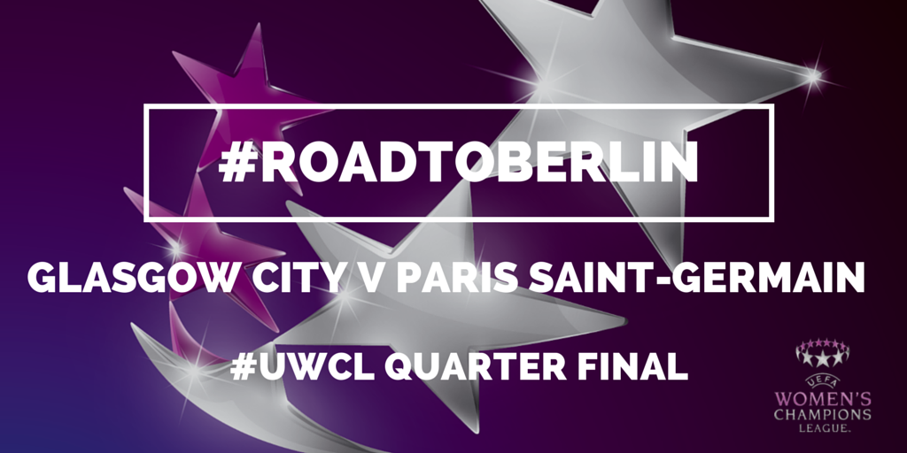 So there you have it, we will face Paris Saint-Germain in the Quarter Final of the @UWCL #roadtoberln #LetsGoCity http://t.co/va6LbPNYNK