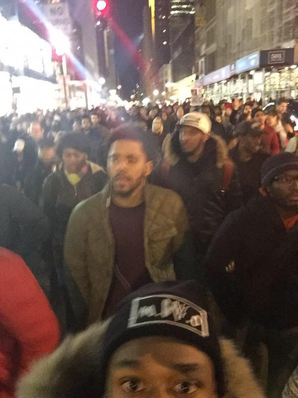 .@JColeNC is out marching with NYC protesters. #EricGarner (via @QuikWest) http://t.co/bF0wKMsbOs