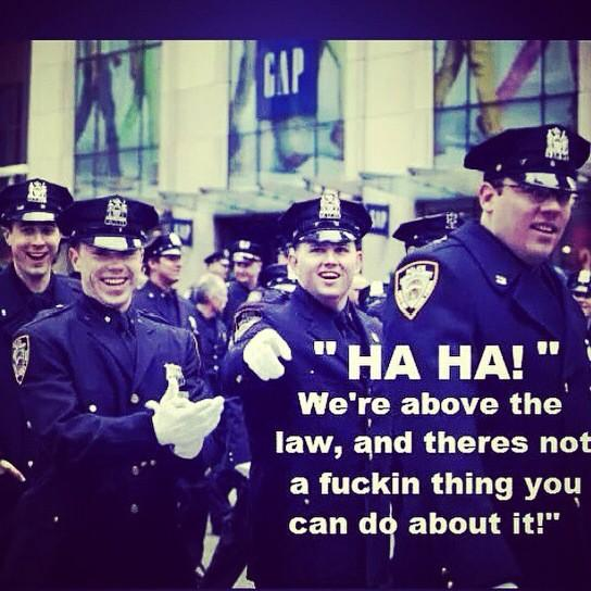 """Where are the """"good cops"""" demanding their killer cops face indictment? Til then, miss me with your """"not all cops"""" http://t.co/PJsHYnd5ky"""