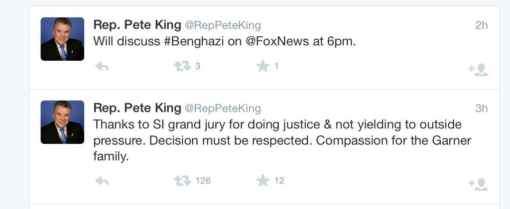 """Decision must be respected"" and Benghazi back to back. Can't make this up http://t.co/ciBoENIGt5"