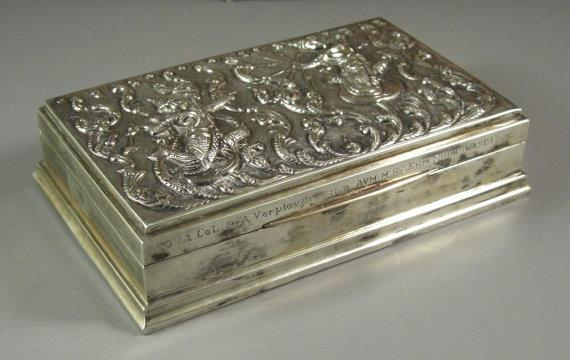 Siam Sterling Silver Cigarette Box // Desk by Successionary   Found at http://t.co/oTgDs8FpSi #Etsy @Successionary http://t.co/2tHGY1hsYY