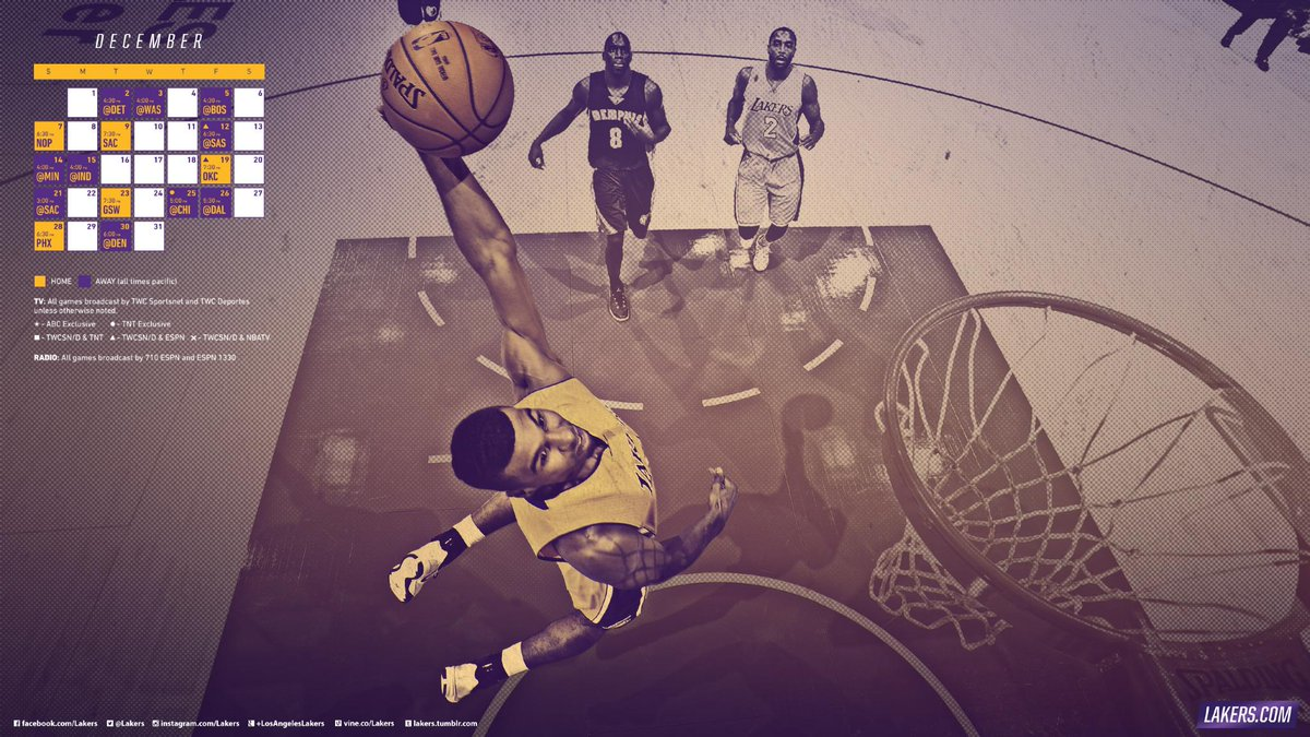 Los Angeles Lakers On Twitter A New Month A New Wallpaper