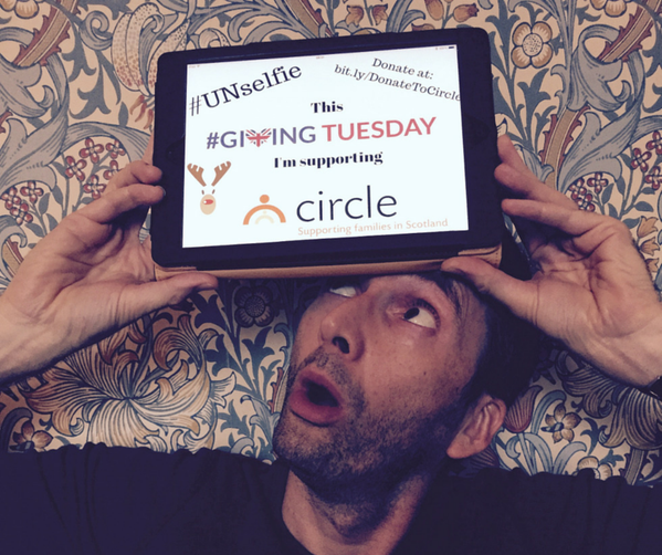 David Tennant supporting Giving Tuesday