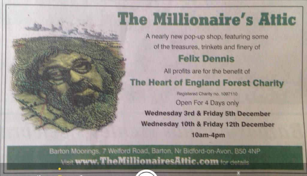 There is a sale of my late great hero @FelixDennis effects from tomorrow near Bidford on Avon. See pic for details. http://t.co/VdhSuWD9cQ