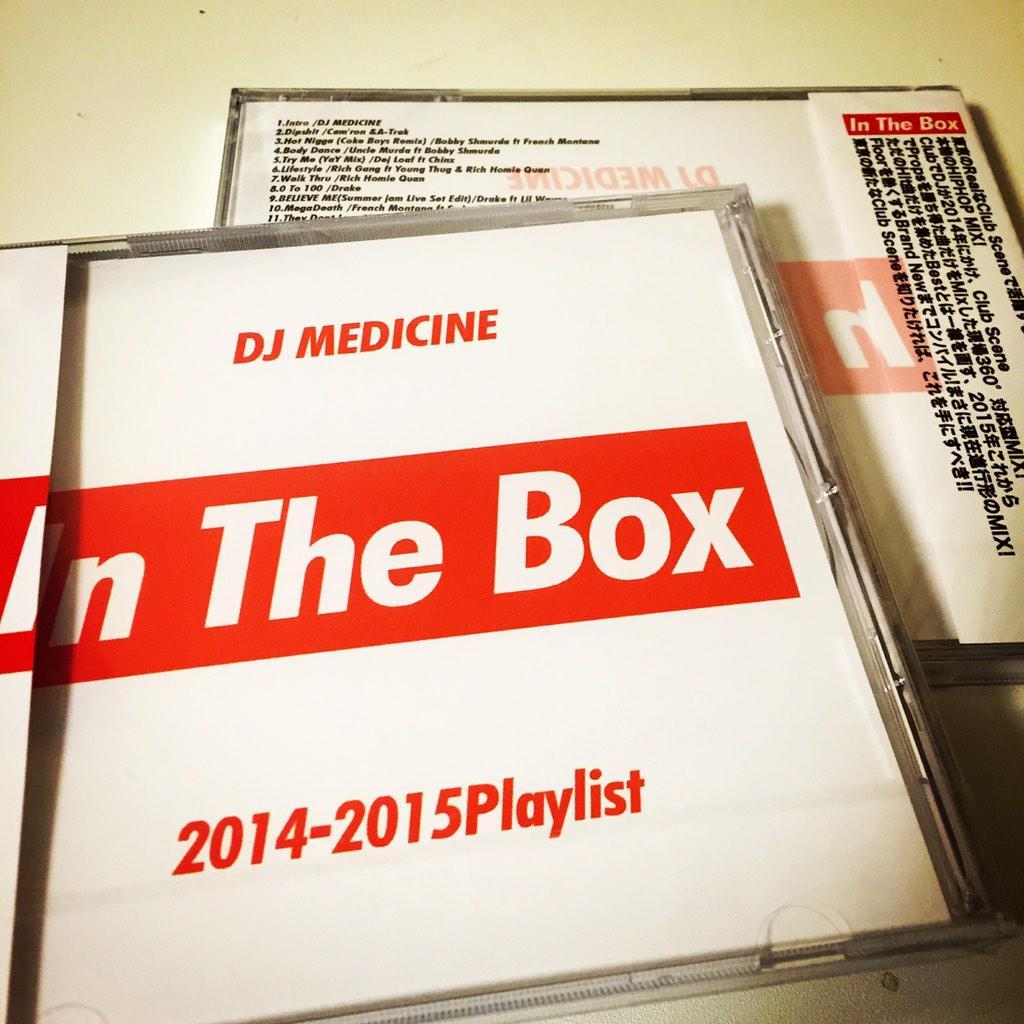 今月よりMIX CDを発売します!! titleは「In The Box」‼️ 今年おれがRealにClubでかけた曲をMixしてます