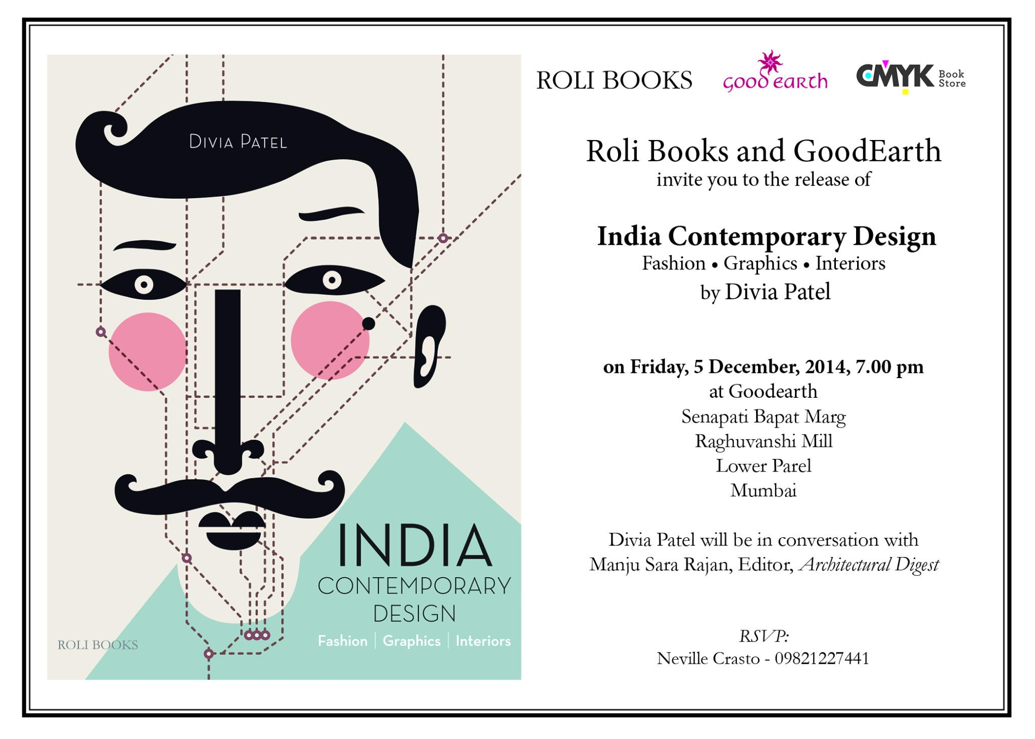 Roli Books On Twitter Join Divia Patel And Manju Sara Ranjan Editor Ad For An Interactive Session On Design Graphics Fashion Http T Co Yefxamh2em