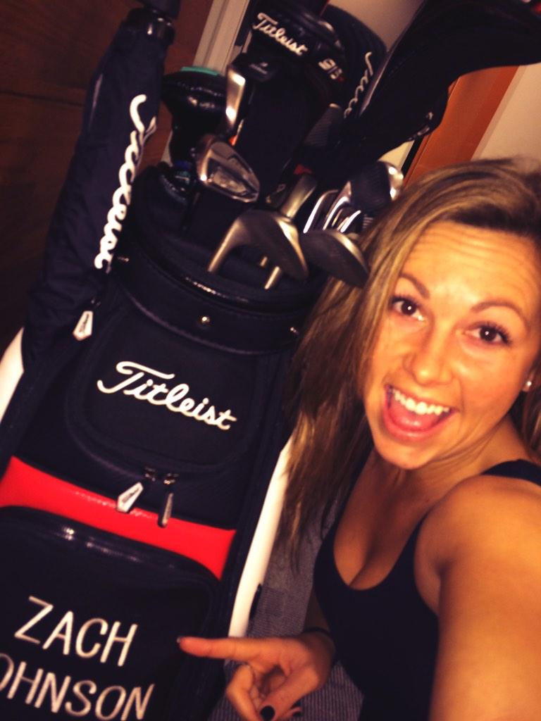 @ZachJohnsonPGA can't leave your clubs just anywhere... Never know whose gonna selfie with them