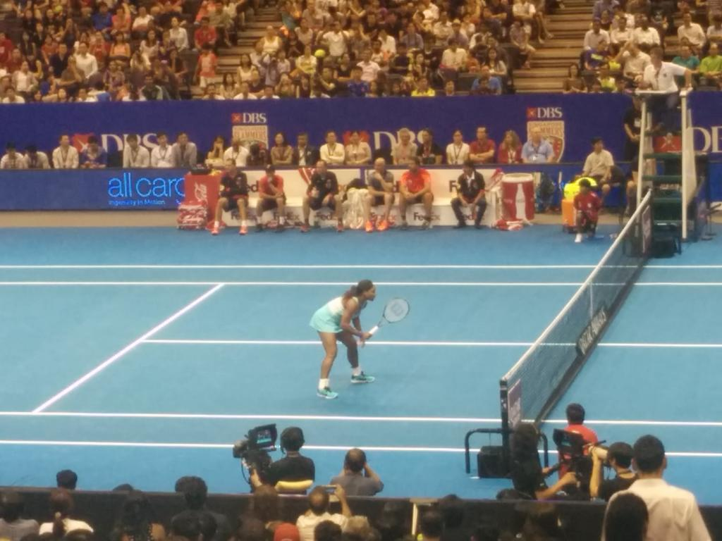 Watching @serenawilliams in action @iptl. #joy http://t.co/39pAwMWjbM