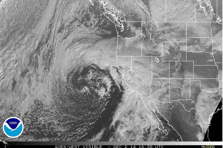 Satellite image of the current storm impacting Southern California. #LARain #CAwx #SoCal #LAweather http://t.co/cKLRieSU4Q