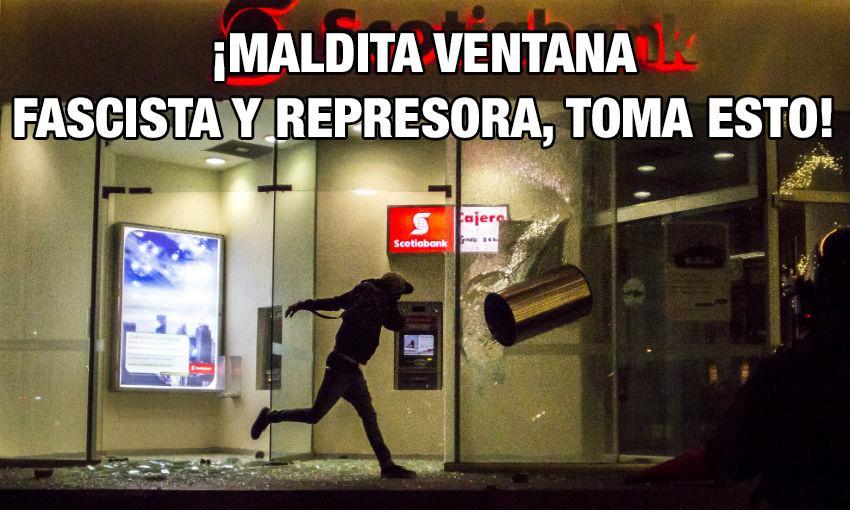 ¡Maldita ventana fascista y represora, toma esto! #YaMeCanse http://t.co/f64ERYaLaT