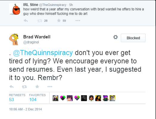 Brad Wardell being a dick