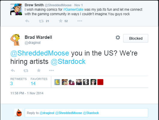 Brad Wardell inviting the artist to apply