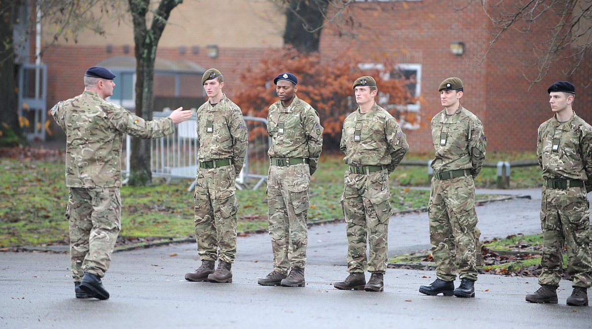 Reserve Recruits At Atr Pirbright Complete Drill Weapons