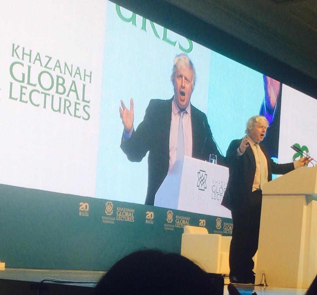 Last event of the week - honoured to have been asked to give the 2014 Khazanah Global Lecture in KL tonight http://t.co/TOIfQIZRXt