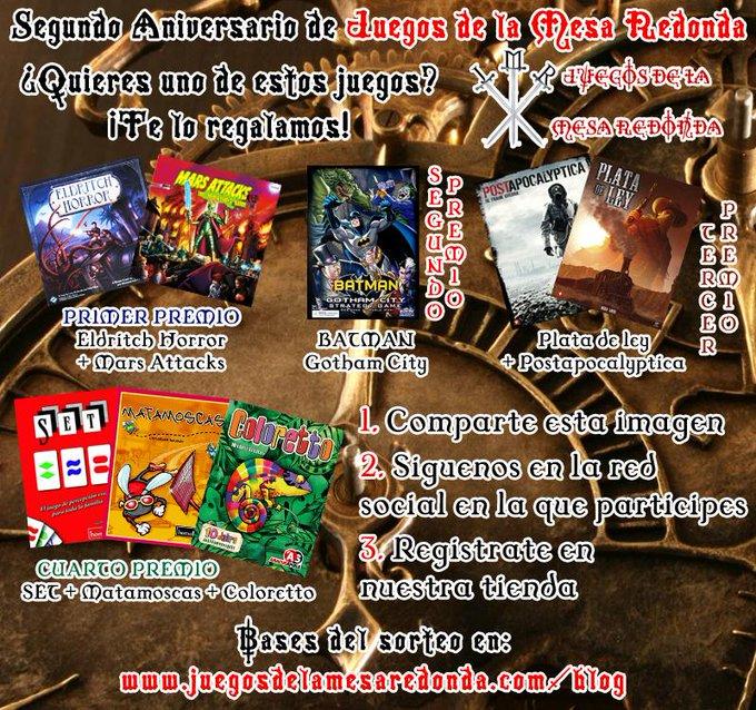 Juegos de la Mesa Redonda cumple 2 años - MEGASORTEO DE JUEGOS B34I5kFCUAAxQWG