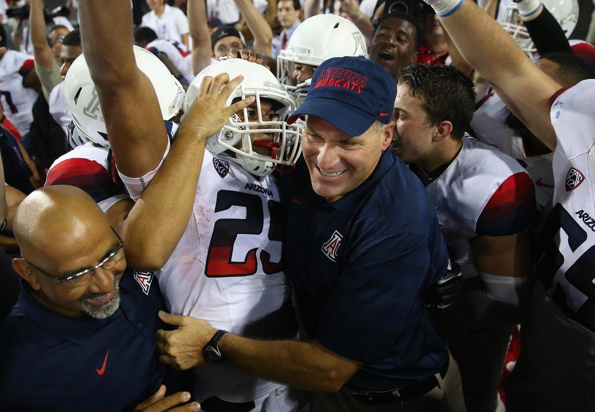 Strange But True: On the day Michigan fires Brady Hoke, Rich Rodriguez wins Pac-12 Coach of the Year. http://t.co/6hOT5tvdqK