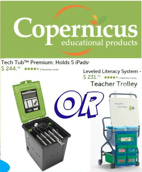 #teacherfriends You can win a Tech Tub OR a Teacher Trolley frm @Copernicused Fill out: http://t.co/9XN98vngLo http://t.co/YmBnZFzwL0