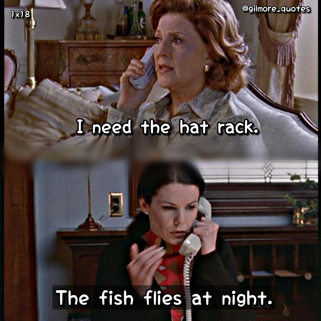 "Lorelai Gilmore Quotes: Gilmore Girls Quotes On Twitter: ""EMILY: I Need The Hat"