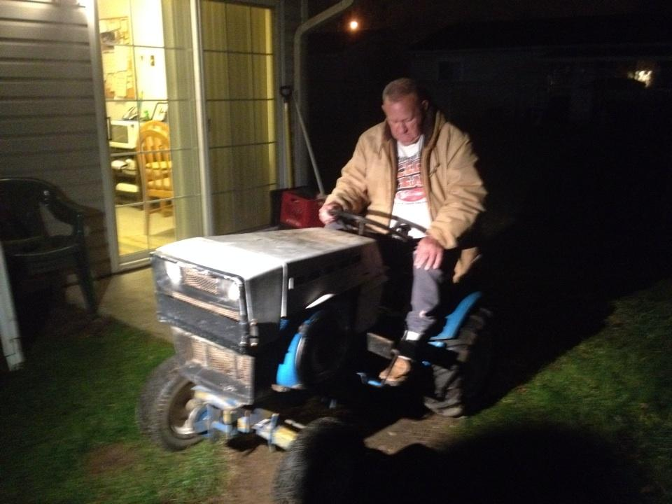 Someone stole this Utica man's only means of transportation--a tractor. Catch his story tonight at 11:00 on 10TV! http://t.co/IV4KqDZaAl