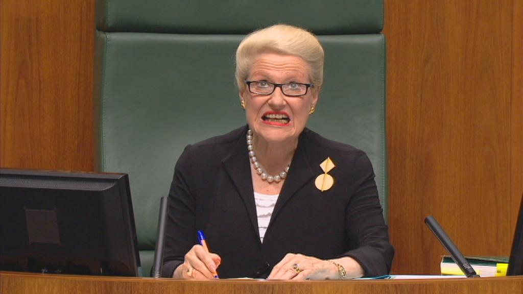 Speaker Bronwyn Bishop: 'I notice that our roof is leaking.' #auspol http://t.co/WIOLoIFhwJ