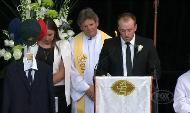 """Dear boof...I couldn't have asked for a better little brother"" - Phillip Hughes brother Jason http://t.co/JTqGVTsSd4 http://t.co/FMREJTpbii"